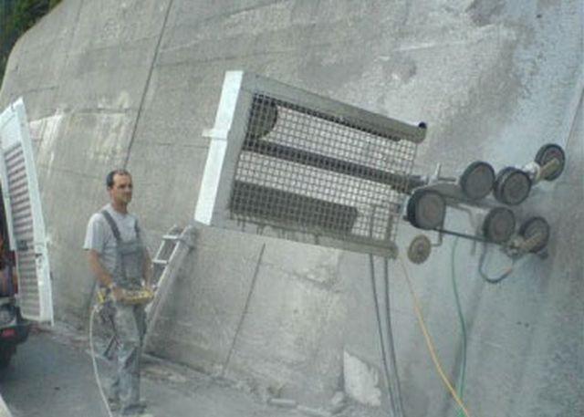 Wandplanken Van Beton : Beton bohr benderer in sent engadin betonrückbau bohrungen