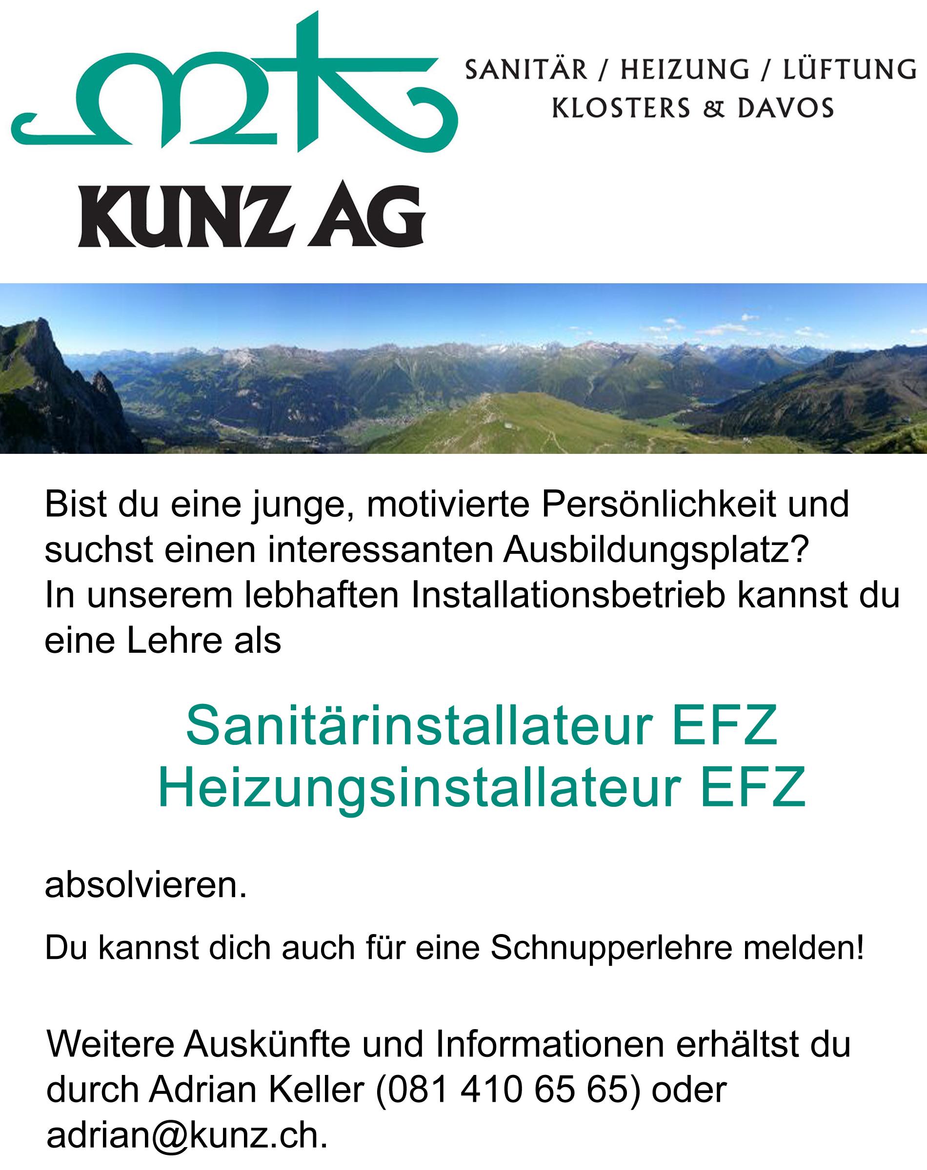 Lehrstelle Sanit�rinstallateur/in EFZ oder Heizungsinstallateur/in EFZ